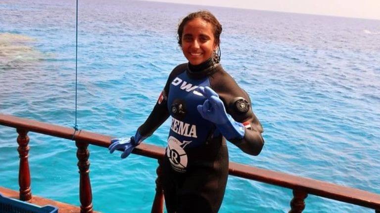 الغطاسة المصرية الصغيرة ريم أشرف