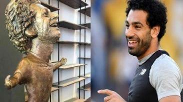 تمثال محمد صلاح بمنتدى شباب العالم