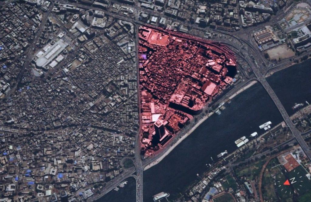موقع مثلث ماسبيرو - خرائط جوجل