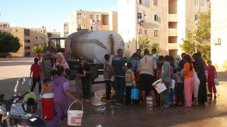 قطع المياه في القاهرة الجديدة