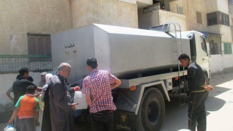 انقطاع المياه في القاهرة