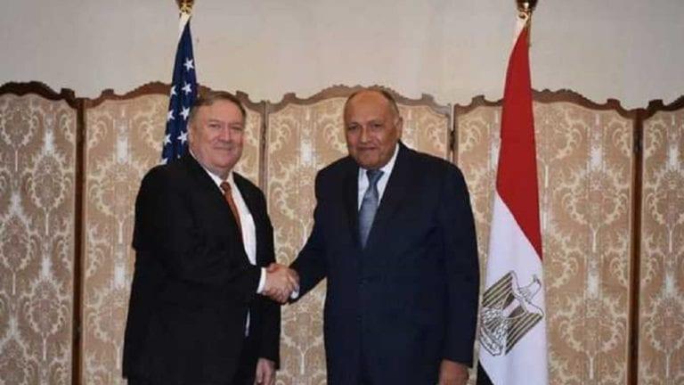 وزيرا الخارجية المصري والأمريكي