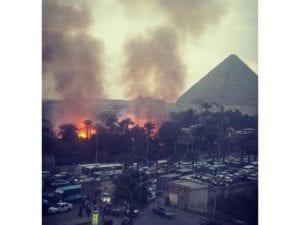 حريق الأهرامات