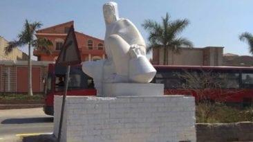 إعادة ترميم تمثال الفلاحة المصرية بعد موجة من السخرية
