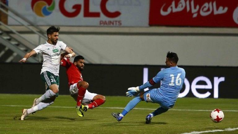 النادي الأهلي يتخطى المصري بهدفين ويتقدم للمركز الثاني