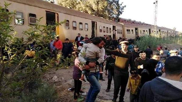 الحصاد: مصابون في حادث قطار كفر الشيخ.. وبدء إجراءات نقل مستشفى العباسية