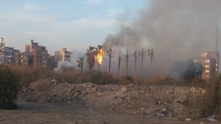 حريق بجوار شركة واختناق 30 من عمال المنطقة الصناعية بالبحيرة