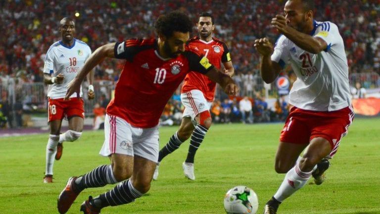 مباراة مصر والكونغو تنتهي بفوز الفراعنة بهدفين والتأهل رسميا (فيديو)