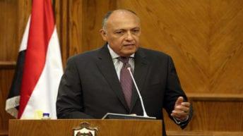 """سامح شكري يعلن مشاركة مصر في """"مؤتمر البحرين"""": لتقييم خطة كوشنر"""