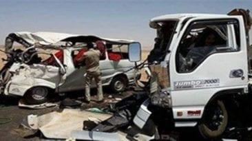 مصرع 5 أشخاص وإصابة 22 في حوادث تصادم وانقلاب متفرقة