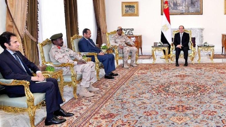 تفاصيل لقاء السيسي ونائب رئيس المجلس العسكري السوداني