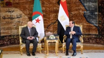 السيسي يلتقي بن صالح ويتمنى الفوز للجزائر ببطولة أمم إفريقيا