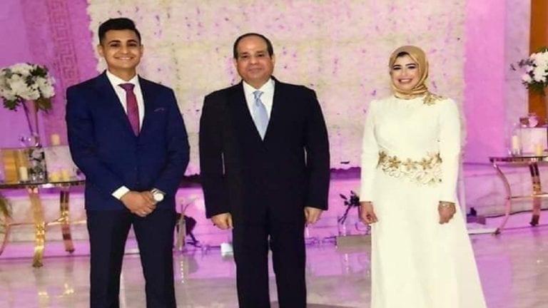 جواز بقرار جمهوري.. السيسي يشهد على عقد قران عروسين