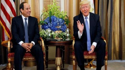 ترامب يشيد بدور الرئيس السيسي في المنطقة
