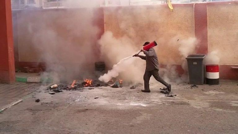 حريق معهد أزهري