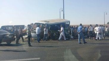 مصرع عروس وإصابة 19 شخصا في حادثتين بأسوان وسوهاج