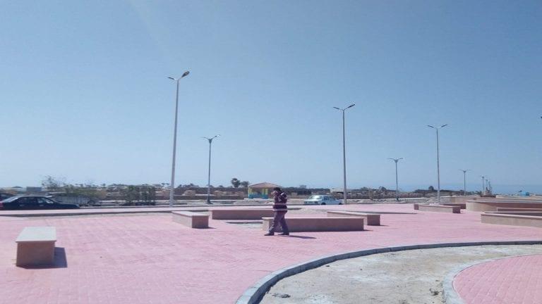 نافورة ساحة العلم تتحول إلى مستنقع في جنوب سيناء