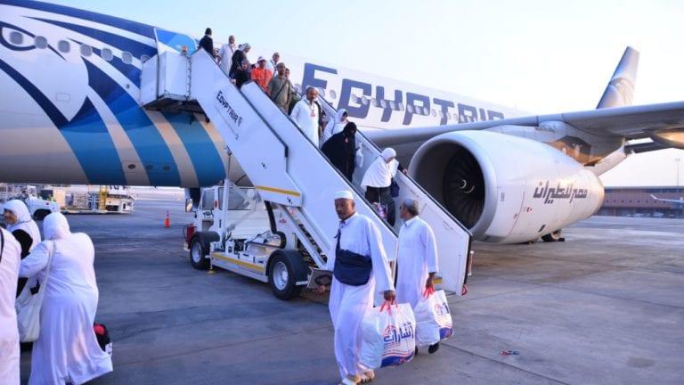 مصر للطيران: تسيير 22 رحلة لإعادة 4800 من الحجاج المصريين