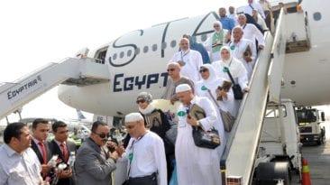 بعثة حج القوات المسلحة تعود إلى مصر بعد أداء الفريضة
