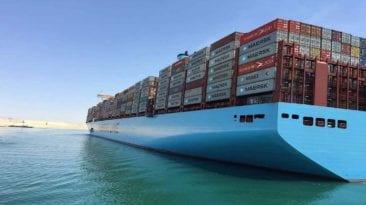 اليوم.. عبور أكبر سفينة حاويات في العالم قناة السويس