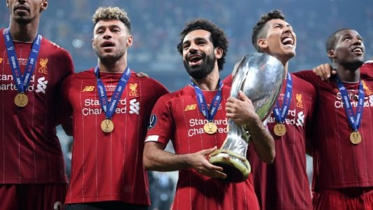 محمد صلاح ثاني أفضل لاعبي ليفربول في السوبر الأوروبي