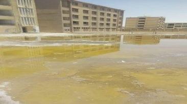 غرق مجمع مدارس في أطفيح بالمياه الجوفية
