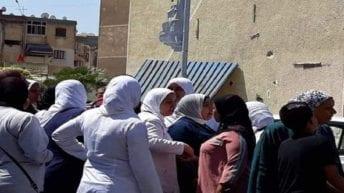 وقفة احتجاجية للعاملين في مستشفى حميات بورسعيد