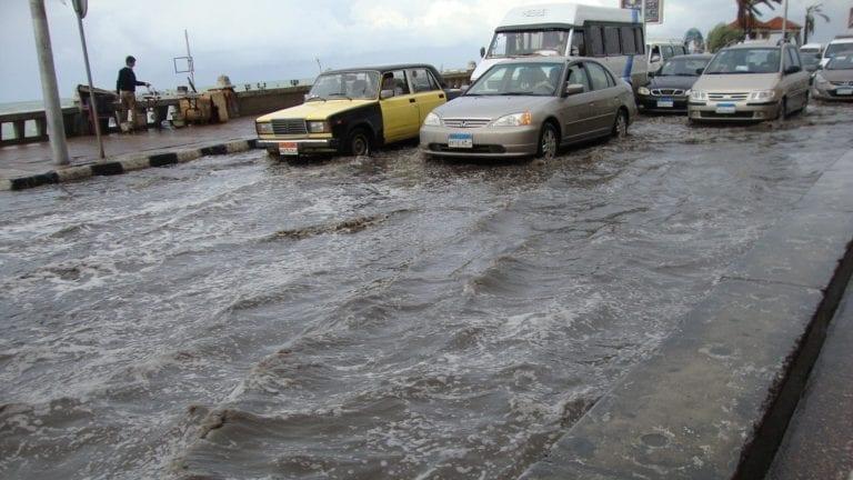 سقوط الأمطار بالإسكندرية