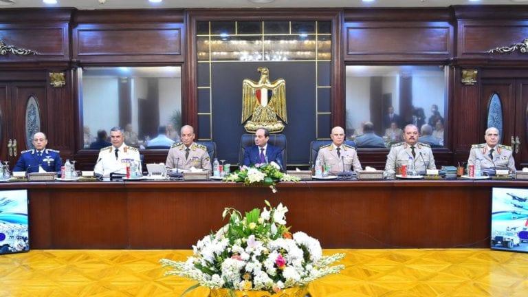السيسي يترأس اجتماع المجلس الأعلى للقوات المسلحة