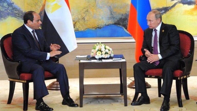 السيسي يلتقي بوتين في القمة المصرية الروسية