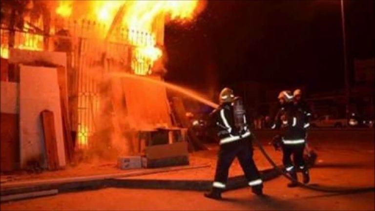 حريق داخل كنيسة مارجرجس في حلوان