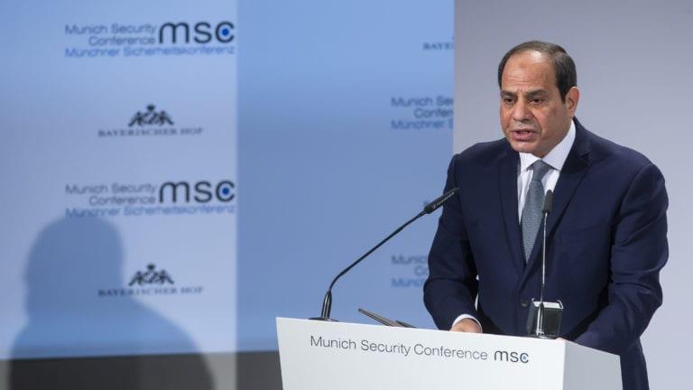 السيسي يتحدث في مؤتمر ميونخ للأمن
