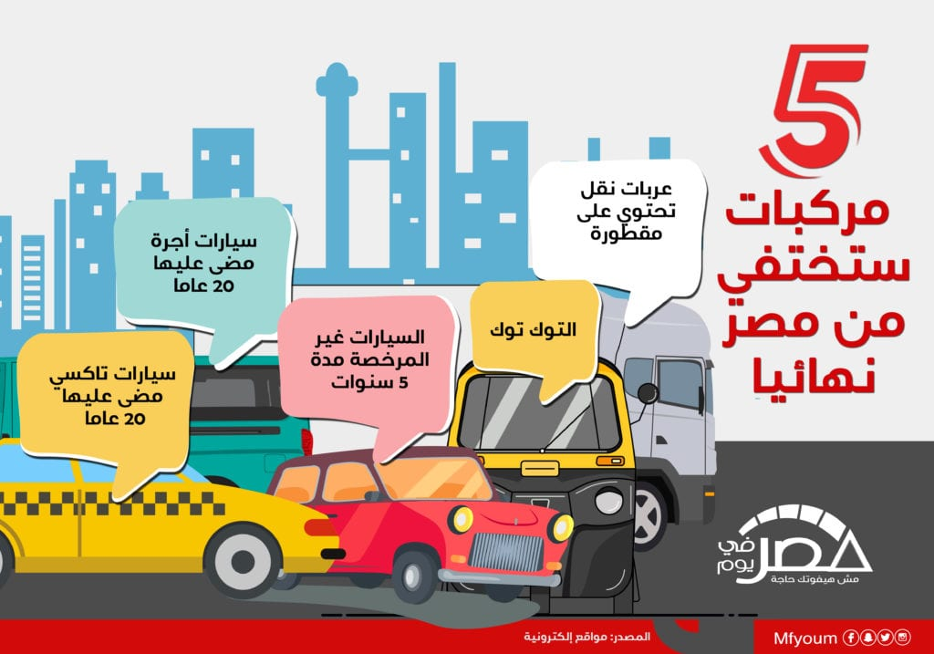 5 أنواع مركبات ستختفي من مصر نهائيا (إنفوجراف)