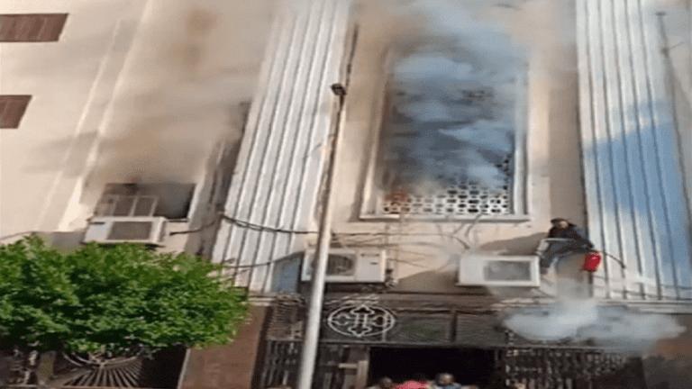 حريق في كنيسة ماري جرجس الجيوشي بشبرا (فيديو وصور)