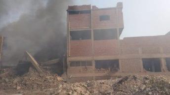 حريق مصنع أبو حوا