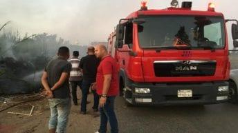 حريق في موقع تدوير قش الأرز بالدقهلية: خسائر 6 ملايين جنيه