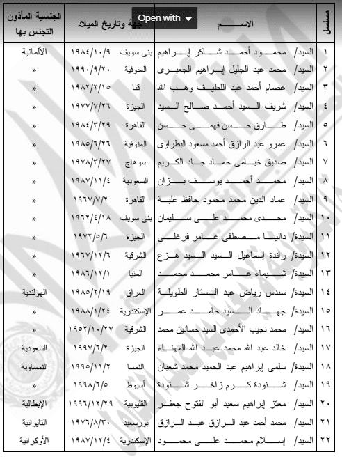 إسقاط الجنسية المصرية