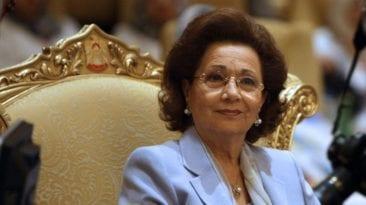 خروج سوزان مبارك من المستشفى بعد عملية جراحية