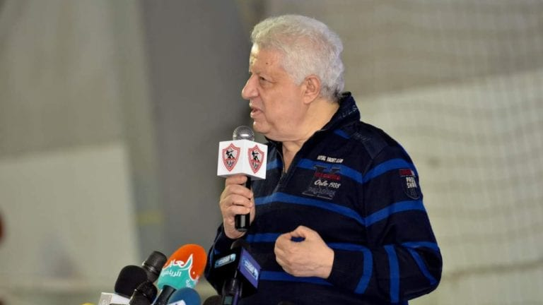 تفاصيل اجتماع مرتضى منصور مع اللاعبين: تهديد بالخصم والطرد (فيديو)