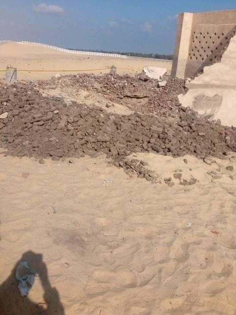 انهيار حائط كنيسة