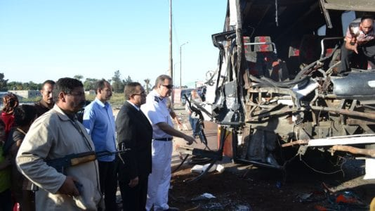 حبس سائق المقطورة المتسبب في حادثة بورسعيد: يتعاطى الحشيش