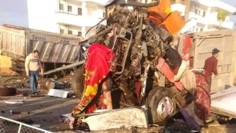 حادثة تصادم بطريق بورسعيد