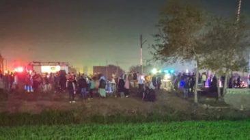 مصرع وإصابة 11 إثر اصطدام قطار بسيارة في ميت غمر (فيديو)