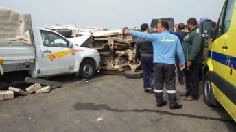 مصرع 8 أشخاص وإصابة 11 آخرين: تصادم ودهس واختناق