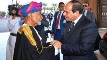السيسي ينعى السلطان قابوس