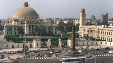 حادثة تصادم أمام جامعة القاهرة