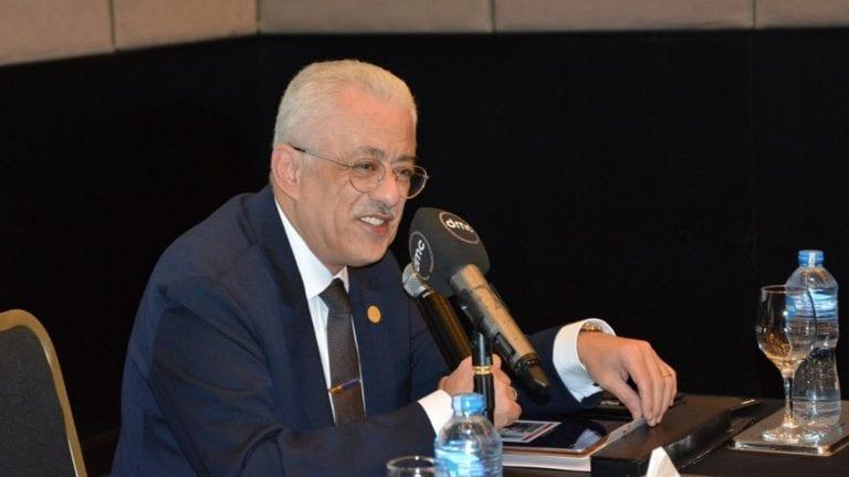 وزير التعليم يتحدث عن امتحانات أولى وثانية ثانوي