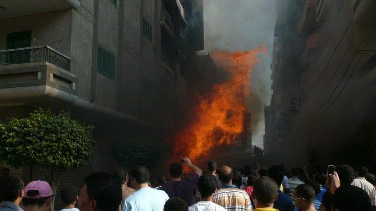 وفاة 7 أفراد في حريق منزل بالحيرة