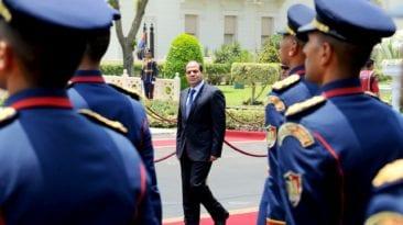 السيسي يستقبل رئيس المجلس الأوروبي: القضية الليبية والأوضاع الإقليمية