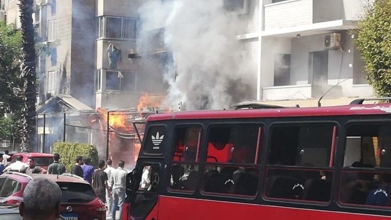 حريق في معرض موبيليا بالعبور